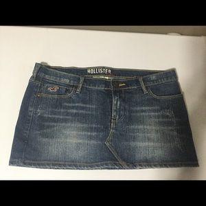 Hollister slight distressed  jean skirt